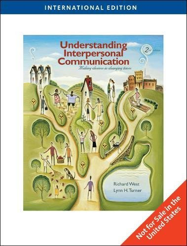 9781439048320: Understanding Interpersonal Communication (Second Edition)