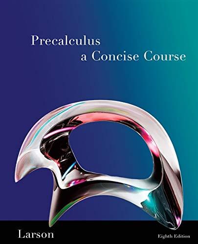 9781439049082: Precalculus: A Concise Course
