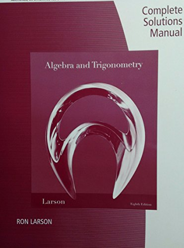 9781439049105: Complete Solutions Manual for Algebra and Trigonometry by Ron Larson, 8th edition