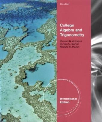 9781439049396: College Algebra and Trigonometry
