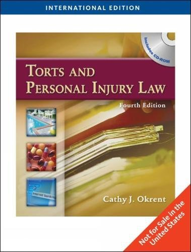 9781439055588: Torts and Personal Injury Law