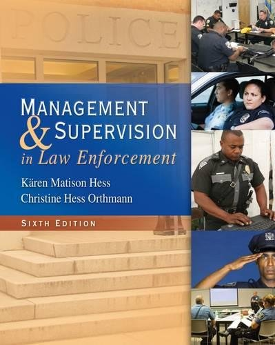 9781439056448: Management and Supervision in Law Enforcement