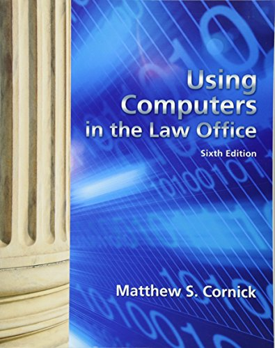 9781439056912: Using Computers in the Law Office (West Legal Studies)