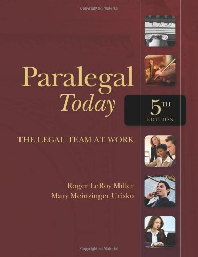 9781439057018: Paralegal Today: The Legal Team at Work (West Legal Studies)