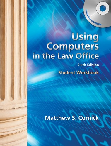 Using Computers in the Law Office: Cornick; Matthew S.