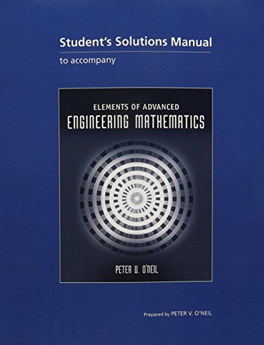 9781439061954: Student Solutions Manual for O'Neil's Elements of Advanced Engineering Mathematics