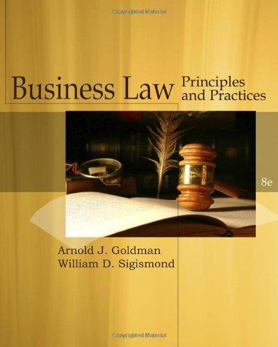 Cengage Advantage Books: Business Law: Arnold J. Goldman,