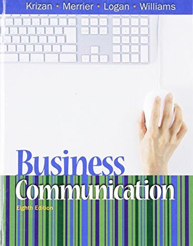 """Business Communication: A.C. """"Buddy"""" Krizan,"""