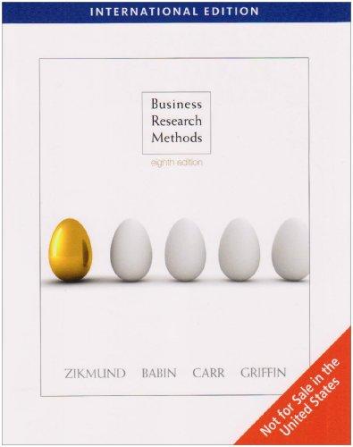 Business Research Methods: William Zikmund et