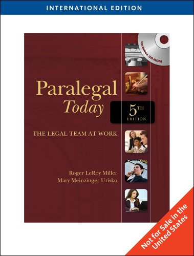 9781439080733: Paralegal Today: The Legal Team at Work