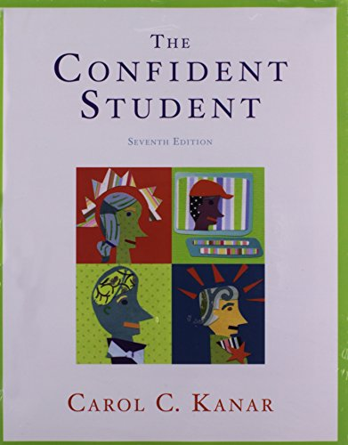 9781439082515: The Confident Student (Textbook-specific CSFI)