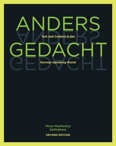 9781439082539: Anders gedacht: Text and Context in the German-Speaking World
