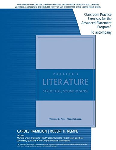 Classroom Practice Book to Accompany Literature Structure,: Thomas R. Arp,