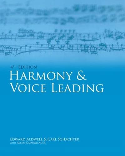 9781439083253: Workbook, Volume I for Aldwell/Cadwallader's Harmony and Voice Leading, 4th