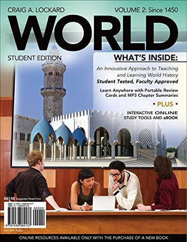9781439084137: WORLD, Volume 2 (with Review Cards and CourseMate, 1 term (6 months), Wadsworth World History Resource Center 2-Semester Printed Access Card) (Available Titles CourseMate)