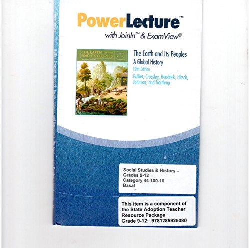 9781439084892: Power Lecture with Joinln & Examview: The Earth and Its Peoples a Global History, 5th Edition