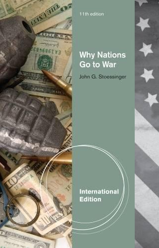 9781439085295: Why Nations Go to War, International Edition