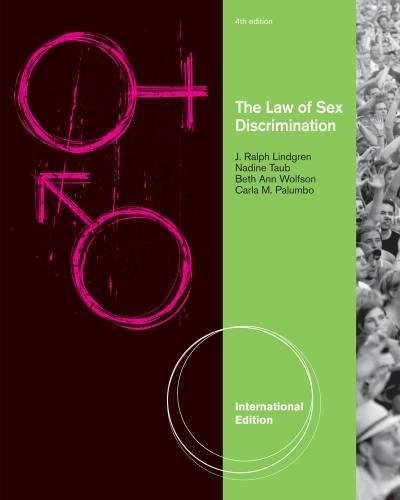 9781439085318: The Law of Sex Discrimination, International Edition