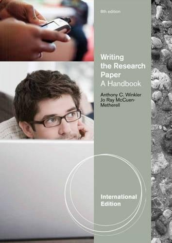 writing the research paper anthony c winkler Books by anthony c winkler, writing talk, writing the research paper, rhetoric made plain, the painted canoe, the lunatic, the duppy, the painted canoe, readings for writers.