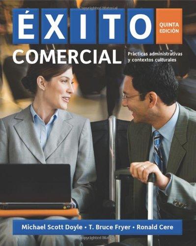 9781439086124: Exito Comercial: Practicas Administrativas y Contextos Culturales