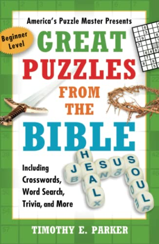 9781439192269: Great Puzzles from the Bible: Including Crosswords, Word Search, Trivia, and More, Beginner Level