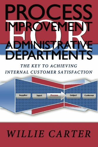 9781439201046: Process Improvement for Administrative Departments: The Key To Achieving Internal Customer Satisfaction