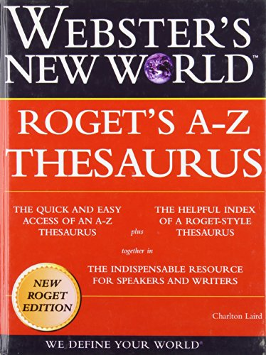 9781439554609: Webster's New World Roget's A-z Thesaurus