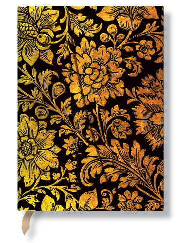 9781439710401: Midnight Gold Wrap Midi Journal (Paperblanks)