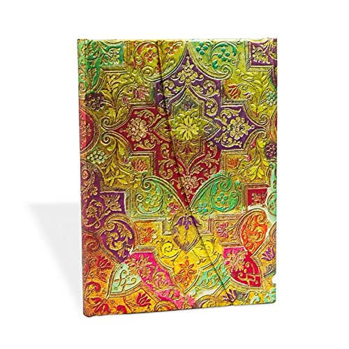 9781439710425: Paperblanks - Bloc de notas (diseño brocado con motivos florales, tamaño mediano, hojas a rayas)