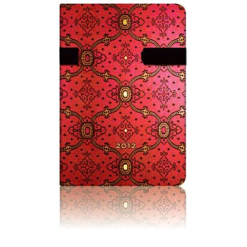 9781439717431: Paperblanks Day Planner 2012, Mini Weekly, French Ornate Cerise
