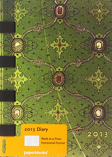 9781439720837: 2013 French Ornate Vert Midi Week-at-a-time Horizontal Dayplanner