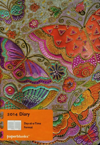 9781439724132: Flutterbyes Midi Daily Diary 2014 (Day-at-a-Time)