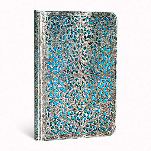 9781439725665: Maya Blue Classic Mini Lined Journal (Silver Filigree)