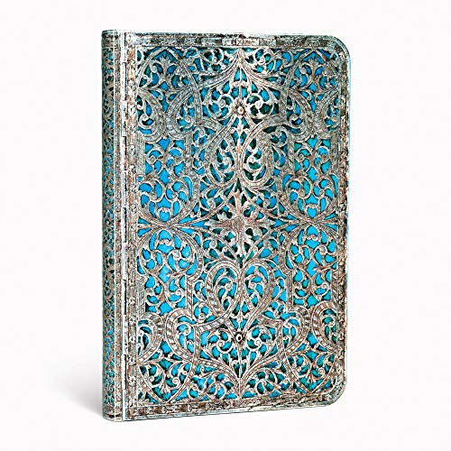 Maya Blue Classic Mini Lined Journal (Silver