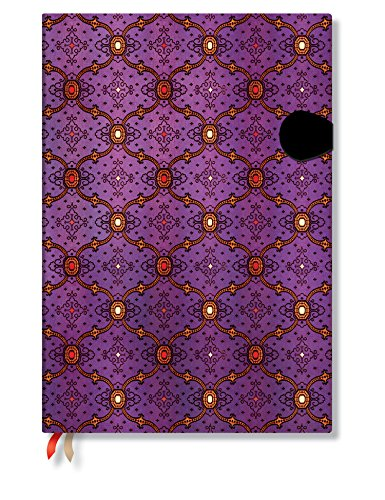 9781439727010: Agenda PAPERBLANKS Soie Violette format Grand 210 x 300 mm - 1 semaine sur 2 pages vertical