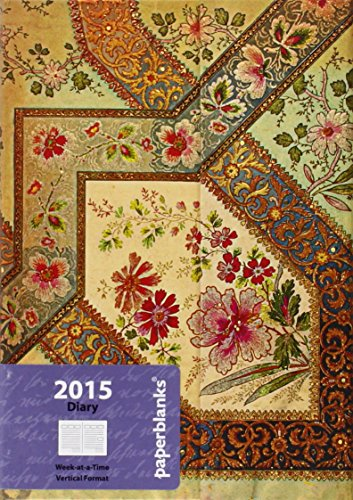 9781439727430: Agenda PAPERBLANKS Filigrane Floral Ivoire format Midi 130 x 180 mm - 1 semaine sur 2 pages vertical