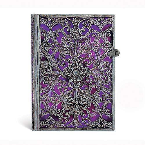 9781439728918: Aubergine Midi Lined Notebook (Silver Filigree Collection)