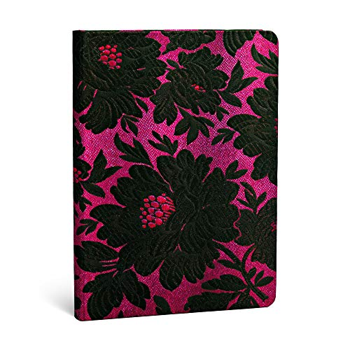9781439729571: Black Dahlia Midi Lined Notebook (Chic & Satin)