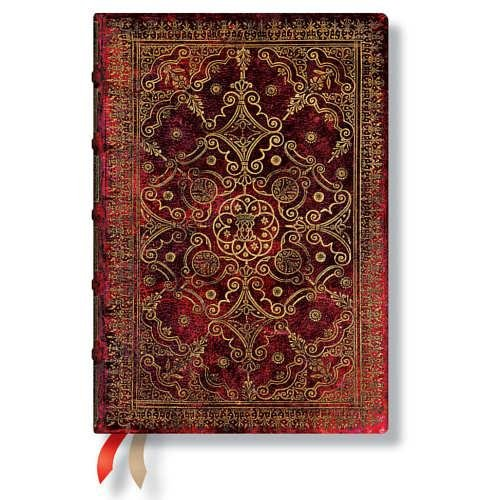 9781439730607: Agenda PAPERBLANKS Carmin format Midi 130x180 mm - 1 semaine sur 2 pages horizontal