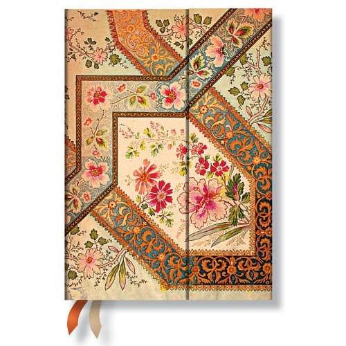 9781439730744: Agenda PAPERBLANKS Filigrane Floral Ivoire format Midi 130x180 mm - 1 semaine sur 2 pages vertical