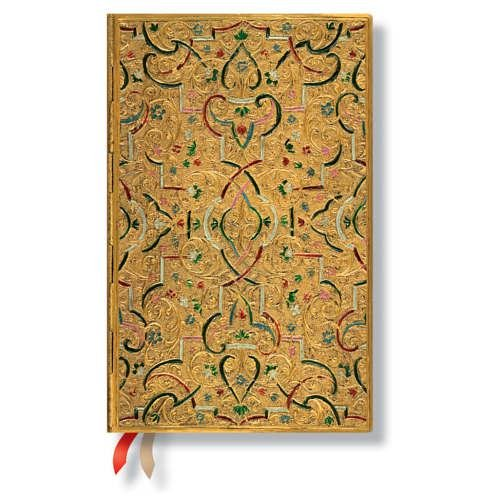 9781439730966: Paperblanks Gold Inlay Maxi Week To View Diary 2016 (135 x 210mm)