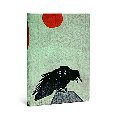 Crow With Red Sun Midi Lined Notebook: Inc. Hartely and
