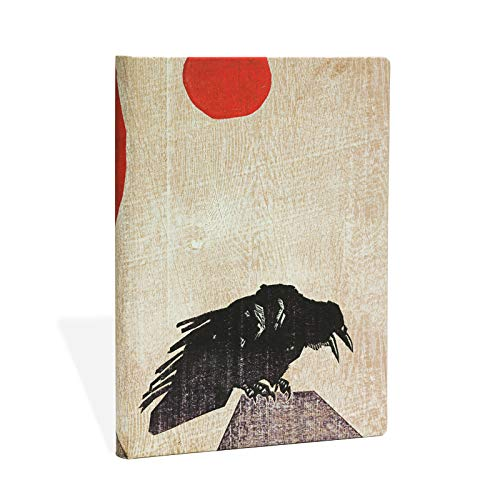 Crow With Red Sun Midi Unlined Notebook: Hartely; Marks