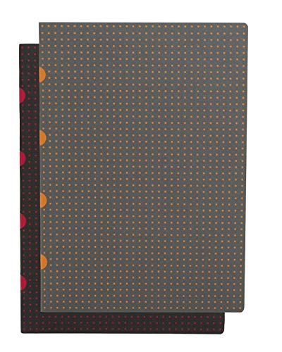 9781439792551: Notes B7 Paper-oh Cahier Circulo Black on Red / Grey on Orange: Pakiet