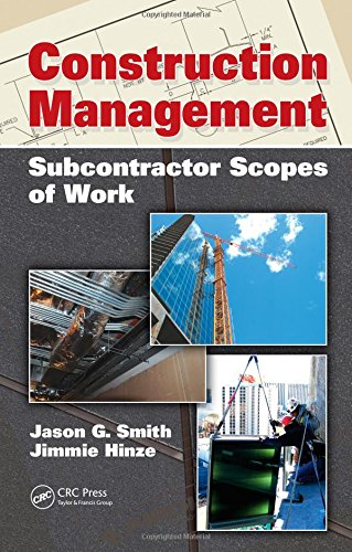 9781439809419: Construction Management: Subcontractor Scopes of Work