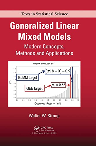 9781439815120: Generalized Linear Mixed Models: Modern Concepts, Methods and Applications (Chapman & Hall/CRC Texts in Statistical Science)