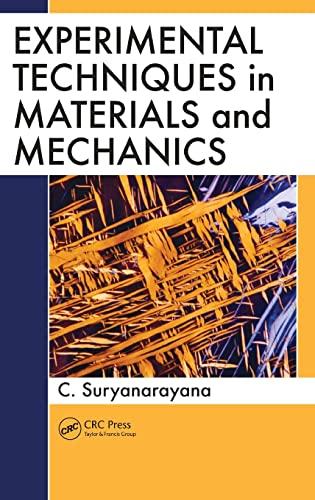 9781439819043: Experimental Techniques in Materials and Mechanics