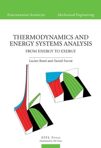 Thermodynamics And Energy Systems Analysis: From Energy: Borel Lucien Et.