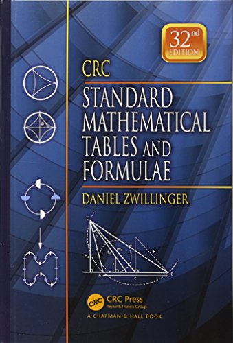 9781439835487: CRC Standard Mathematical Tables and Formulae, 32nd Edition (Advances in Applied Mathematics)