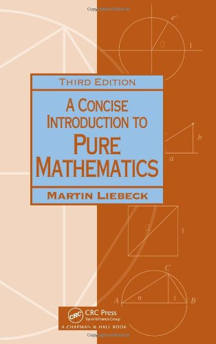 9781439835982: A Concise Introduction to Pure Mathematics, Third Edition (Chapman Hall/CRC Mathematics)